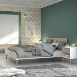 Schlafzimmer Hardy weiß/Eiche