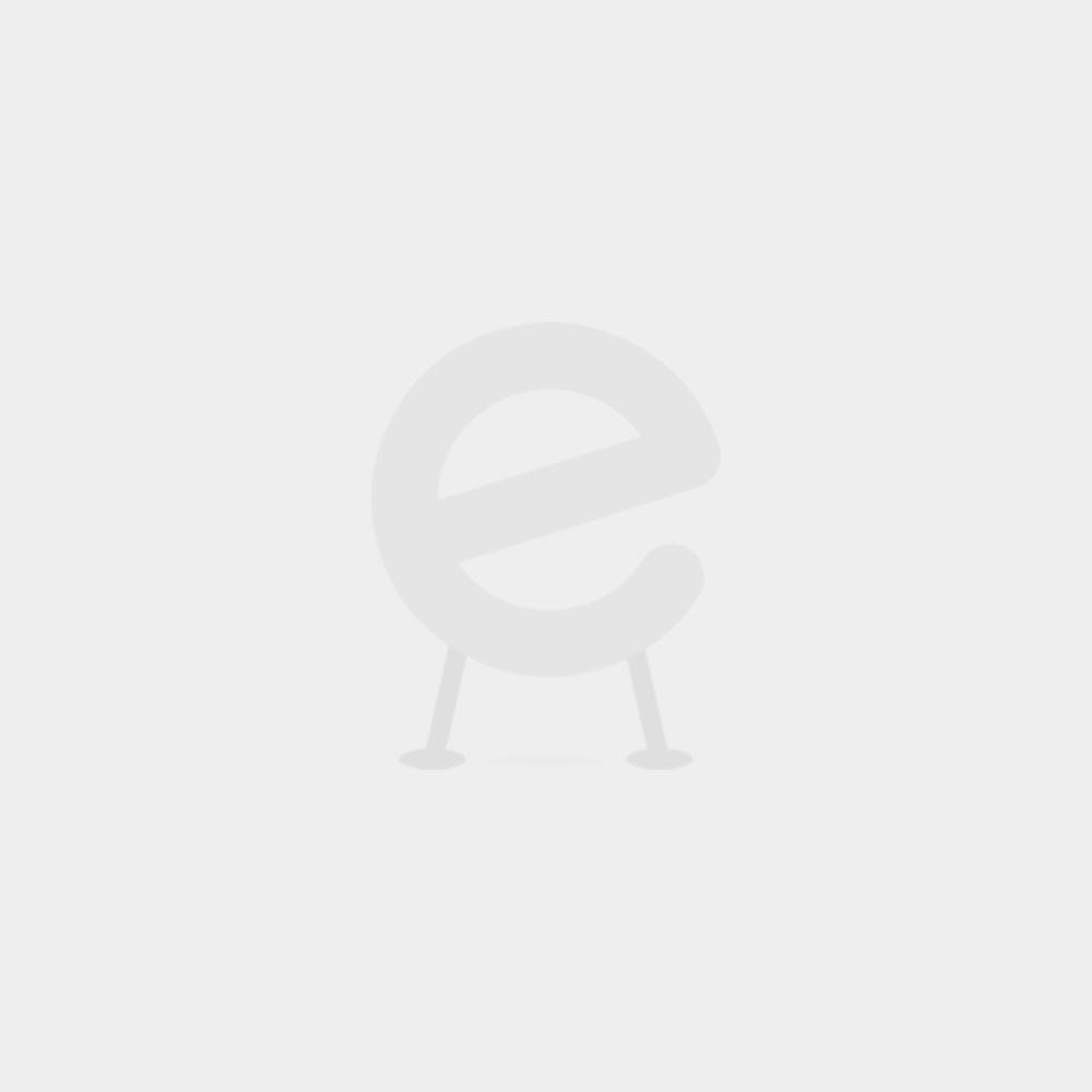 Halbhochbett Noa mit gerader Treppe - white wash