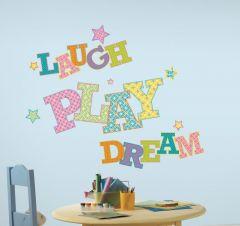 RoomMates Wandsticker - Laugh, play, dream