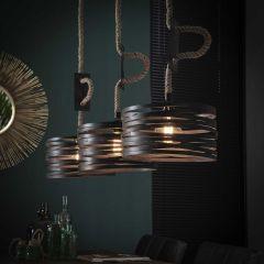 Hängende Lampe 3xØ30 drehbares verstellbares Seil - Slate grey