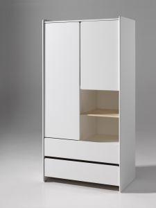 Kleiderschrank Kiddy 2 Türen - weiß