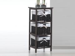 Behelfskabinett Kubo mit 3 Fächern - braun