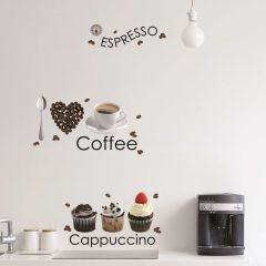 Wandaufkleber Espresso - Großformatig