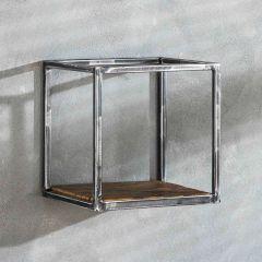 Wandregal grained 30cm - Robustes Hartholz