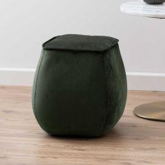 Fußhocker Mirza 40x40 - dunkelgrün