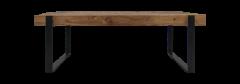 Couchtisch Norton - 130x60 cm - Ausgefallenes Teakholz / Eisen