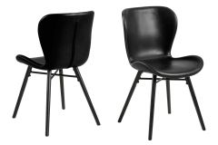 Batilda - A1 dining chair - black, black - set of 2