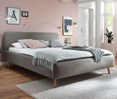 Gedempt bed Mattis - 160x200 cm - taupe