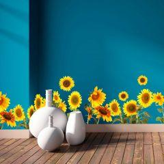Wandaufkleber Sonnenblumen - dekorative Bordüre