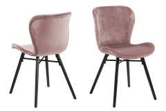 Batilda - A1 dining chair - dusty rose, black - set of 2