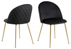 Louise dining chair Dublin - black, brass - set of 4