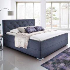 Gestoffeerd bed Chicago - 140x200 cm - antraciet