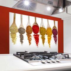 Wandaufkleber Löffel Rückwand Küche