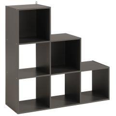 Schrank Cubicub mit 6 Fächern - grau