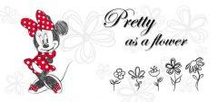 Leinwandbild Minnie Maus - Flower