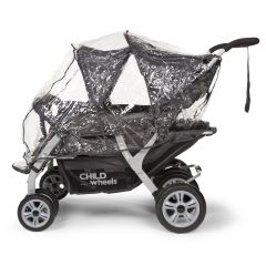 Regenschutz für Vierfach-Kinderwagen