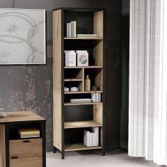IN-LOFT 3 - Regal hoch/schmal - Artisan Oak Nb/Stahl dunkel