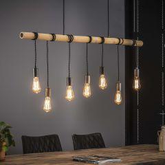 Hängeleuchte Serra Bamboo 7 Lichtquellen