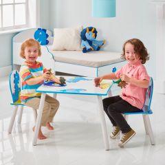 Kindertisch mit Stühlen Dinosaurier