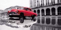 Leinwand Auto Kuba 50x100cm