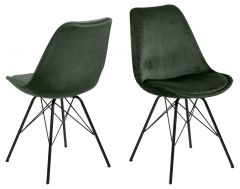 Eris dining chair - forest green, black - set of 2