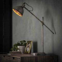 Tischlampe loft hinged - Alt Silber Finish