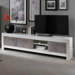 Modena Weiss/beton TV möbel 207cm