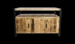 Sideboard Havanna - 3-türig - Mangoholz / Eisen