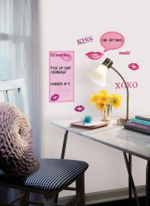 RoomMates Wandsticker - Whiteboard mit Küsschen