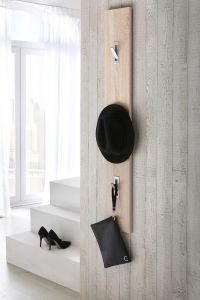 Garderobenpaneel mit 3 Klapphaken - Eiche Sonoma Dekor Melamin