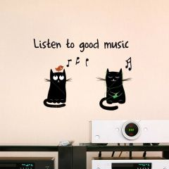 Wandaufkleber Gute Musik