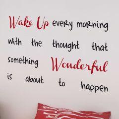 Wandaufkleber Wake Up