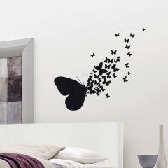 Wandsticker Schmetterling Silhouette