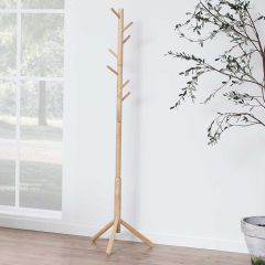 Bremen coat hanger - rubber wood