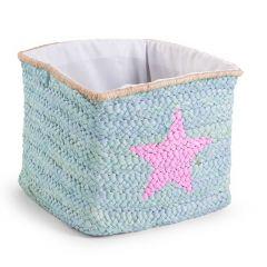 Natürliche Box Aus Maisblätter 30X33X33 Mint Stern & Wolke