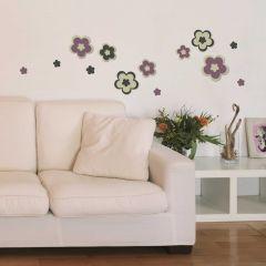 Wandsticker 3D Blumen - Schaumstoffsticker