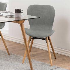 Batilda - A1 dining chair - light grey, oak;black - set of 2