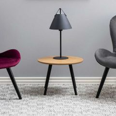 Stafford lamp table - black, ash