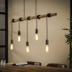 Hängeleuchte Budus 98cm mit 5 Lichtquellen - Bambus