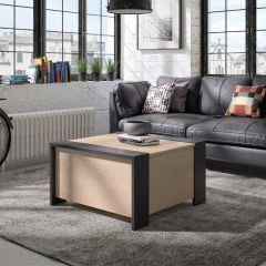 TABLE - AURORA black/chestnut coffee table chest Natural chestnut