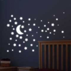Wandsticker Super Stars Glow in the Dark
