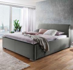 Gestoffeerd bed La Finca - 160x200 cm - Lichtgrijs