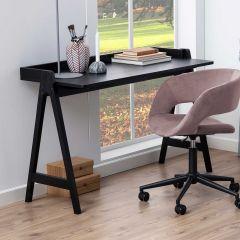 Milau 127cm Schreibtisch - schwarz