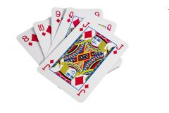 Riesiges Kartenspiel