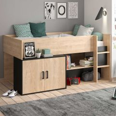 COUCHAGE JUNIOR - ARZ compact bed Blond oak