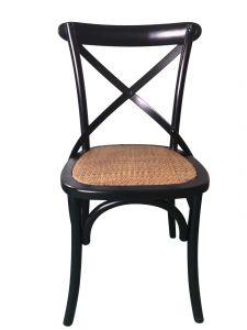 Set mit 2 Stühlen Erdo - schwarz