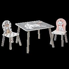Set aus Tisch und 2 Stühlen für Kinder