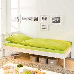 Kinderbett Olga 90x190cm - weiß gewaschen