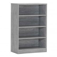 Bücherregal Spacio 72cm mit 3 Einlegeböden - Eiche grau