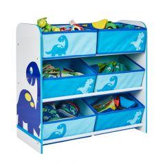 Regal mit 6 Boxen - Happy Dino